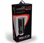 AЗУ WALKER WCR-23 1 USB разъем (2,4 А) блочок, быстрый заряд QC2.0, серебряный