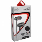 Наушники Walker H550, Soft touch, черные, с микрофоном и кнопкой ответа