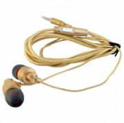 Наушники Walker H700, золотые, с микрофоном и кнопкой ответа (матерчатый провод)