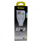 Inkax кабель для iPad/iPhone 5, USB - 8 PIN, 2.1A, длина 0,2 м. (CK-21-IP)