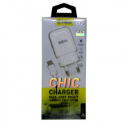 INKAX СЗУ с кабелем TYPE-C 2,1 A Fast Chardge (быстрый заряд) (CD-24-TYPE C)