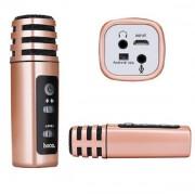 Микрофон для караоки к смартфону Hoco BK2 Maiba mobile phone microphone ,бронза