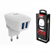 MY-228  Сетевое ЗУ Emy 2USB  2.4A с кабелем Micro USB