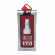 MY-117  Автомобильное ЗУ Emy 3USB 4.2A