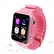 Детские Часы Smart Baby Watch V7K - сим-карта/GPS/аксельмометр, розовые