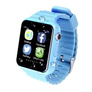 Детские Часы Smart Baby Watch V7K - сим-карта/GPS/аксельмометр, синие