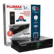 LUMAX Цифровой телевизионный приемник, металлический корпус, 3RCA, дисплей, Wi-Fi (DV3203HD)