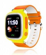 Детские часы Smart Q90 - сим-карта/GPS/Wi-Fi/акселерометр, желтые