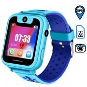 Детские часы Smart Watch X - камера/сим-карта/GPS, синие