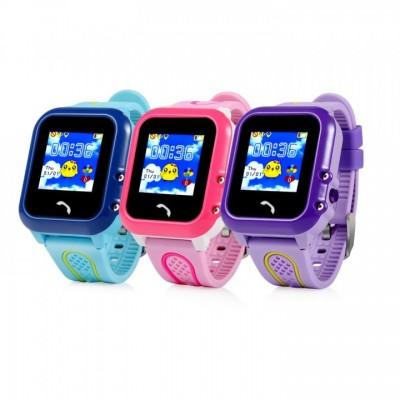 Часы детские Smart DF27, сим-карта/GPS в метал. боксе, фиолетовые
