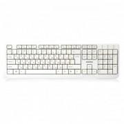 Клавиатура проводная мультимедийная Smartbuy ONE 208 USB (SBK-208U-W), белый