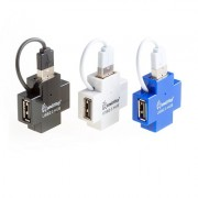 Smartbuy USB-HUB 4 Port, USB 2.0 SBHA408 белый (SBHA-408-W)