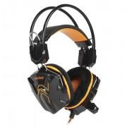 Игровая гарнитура RUSH SNAKE, динамики 40мм, велюровые амбушюры, черн/оранж (SBHG-1100)