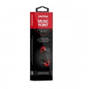 Внутриканальные наушники SmartBuy® MUSIC POINT, красные (SBE-2400)