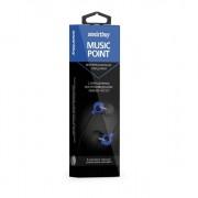 Внутриканальные наушники SmartBuy® MUSIC POINT, синие (SBE-2500)