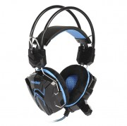 Игровая гарнитура RUSH SNAKE, динамики 40мм, велюровые амбушюры, черно-синий
