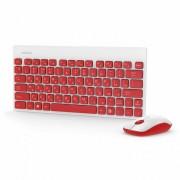 Комплект беспроводной  клавиатура+мышь Smartbuy 220349AG красно-белый (SBC-220349AG-RW)