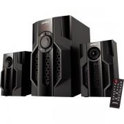 "Perfeo колонки 2.1 ""TOTEM"", мощн 15Вт+11,5х2Вт, Bluetooth, AUX, FM, USB/SD, ПДУ, чёрн (PF-105C-BL)"