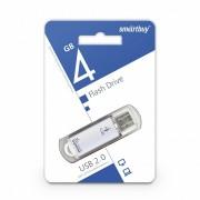 USB  4GB SmartBuy V-Cut Series (SB4GBVC-S), серебро
