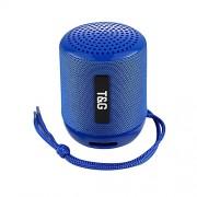 Блютуз-колонка TG129, Micro SD+USB+AUX+NFC+FM, синяя JB
