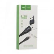 Hoco U26 универсальный кабель, USB/Tipe-C на LIGHTNING черный, длина 1м