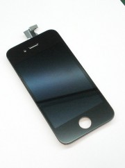 Дисплей iPh 4G в сборе с тачскрином и рамкой (OAЭ), черный