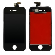 Дисплей iPh 4S в сборе с тачскрином и рамкой (OAЭ), черный