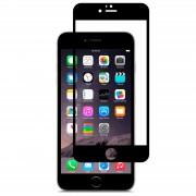 Защитное стекло Apple iPhone 6/6S, черное, Mahaza 3D, 0.1mm +защит.пленка на задн.панель