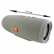 Блютуз-колонка JB CHARGE 3, Micro SD+Micro USB+AUX+FM, серый