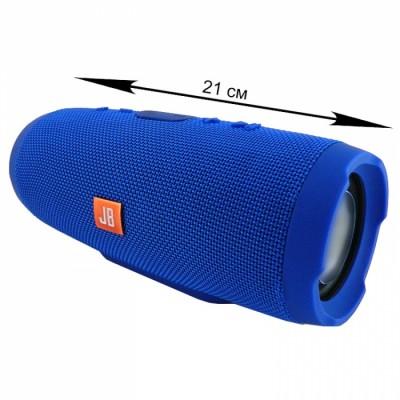 Блютуз-колонка CHARGE 3, Micro SD+Micro USB+AUX+FM, синяя, JB