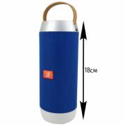 Блютуз-колонка JB J9, Micro SD+Micro USB+AUX+FM+NFC+цветной фонарь, синий