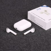 Гарнитура Bluetooth Apple AirPods TWS i12-PE, белые ,soft toch ,чехол в комплете