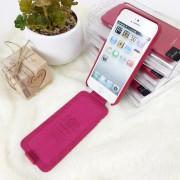 Чехол-книга Apple iPhone 5 Nuoku Elite Series, розовый