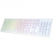Клавиатура проводная с подсветкой Smartbuy ONE 305 USB белая (SBK-305U-W)