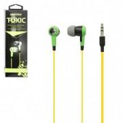 Внутриканальные наушники SmartBuy® TOXIC, зеленые (SBE-2700)