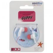 Наушники проводные пассивные SmartBuy GUPPY, розовые (SBE-420)
