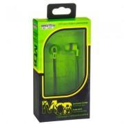 Внутриканальные наушники Smartbuy Mob, плоский кабель, сменные насадки, зелен/серые (SBE-870)