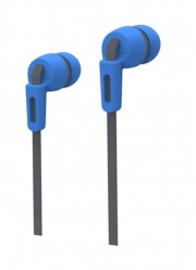 Внутриканальные наушники Smartbuy Mob, плоский кабель, сменные насадки, син/серые (SBE-860)