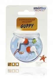 Наушники проводные пассивные SmartBuy GUPPY, оранжевые (SBE-430)
