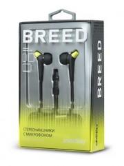 Внутриканальная гарнитура Smartbuy BREED, плоский кабель, черно-зеленая (SBH-9010)