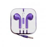 Наушники EarPods  iPhone 5  в боксе фиолетовые
