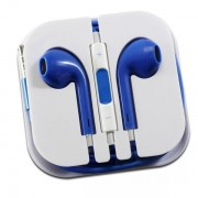 Наушники EarPods  iPhone 5  в боксе синие