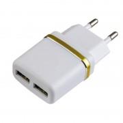 PERFEO Сетевое зарядное устройство с двумя разъемами USB, 2.1А (I4615)