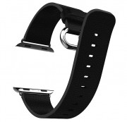 Ремешок для Apple Watch 42mm, iXtech, кожаный, черный