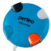Perfeo USB-HUB 4 Port, (PF-VI-H020 Blue) PF_4285 синий
