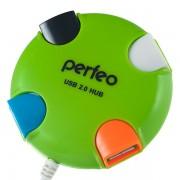 Perfeo USB-HUB 4 Port, (PF-VI-H020 Green) PF_4286 зелёный