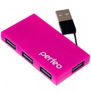 Perfeo USB-HUB 4 Port, (PF-VI-H023 Pink) розовый