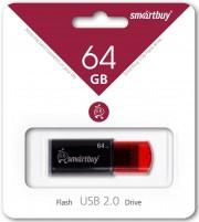 USB 64GB SmartBuy Click Series красно-чёрный