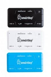 Smartbuy Картридер + HUB USB 2.0 3 порта+SD/microSD/MS/M2 Combo 750 черный (SBRH-750-K)