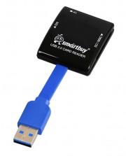 Smartbuy Картридер USB 3.0 SD/microSD/MS 700 черный (SBR-700-K)